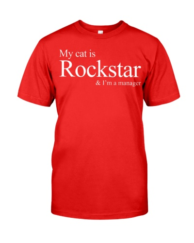 My Cat Is Rockstar I'm A Manager Shirt