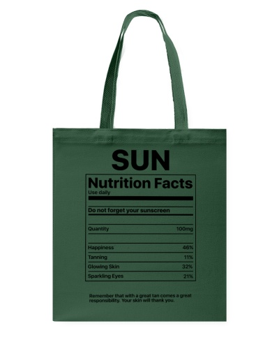 Sun Nutrition Facts T-Shirt