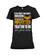 STICKER PIPEFITTER Premium Fit Ladies Tee thumbnail