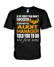 STICKER AUDIT MANAGER V-Neck T-Shirt thumbnail