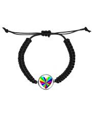 valentine heart rainbow 3D Cord Circle Bracelet thumbnail