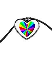 valentine heart rainbow 3D Cord Heart Necklace thumbnail