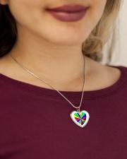 valentine heart rainbow 3D Metallic Heart Necklace aos-necklace-heart-metallic-lifestyle-1