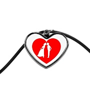 lovers couple Cord Heart Necklace thumbnail