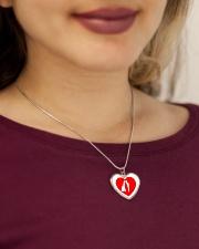 lovers couple Metallic Heart Necklace aos-necklace-heart-metallic-lifestyle-1