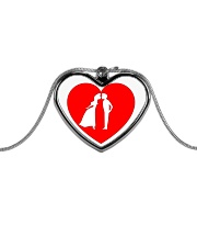 lovers couple Metallic Heart Necklace thumbnail