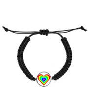 Multicolor heart bow Cord Circle Bracelet thumbnail