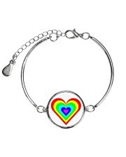 Multicolor heart bow Metallic Circle Bracelet thumbnail