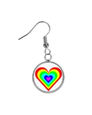Multicolor heart bow Circle Earrings thumbnail