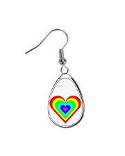 Multicolor heart bow Teardrop Earrings thumbnail