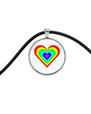 Multicolor heart bow Cord Circle Necklace thumbnail