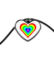 Multicolor heart bow Cord Heart Necklace thumbnail