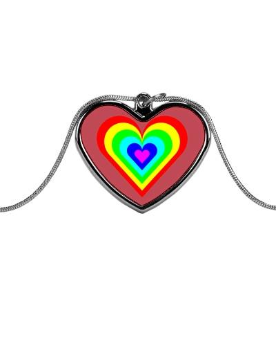 Multicolor heart bow