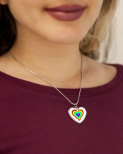 Multicolor heart bow Metallic Heart Necklace aos-necklace-heart-metallic-lifestyle-1