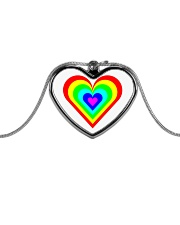 Multicolor heart bow Metallic Heart Necklace front