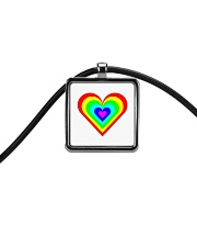Multicolor heart bow Cord Rectangle Necklace thumbnail