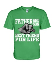 Father And Son Best Friend For Life V-Neck T-Shirt thumbnail