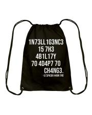 1n73ll1g3nc3 Drawstring Bag thumbnail