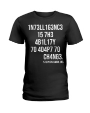 1n73ll1g3nc3 Ladies T-Shirt thumbnail