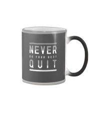 NEVER DO YOUR BEST QUIT Color Changing Mug thumbnail