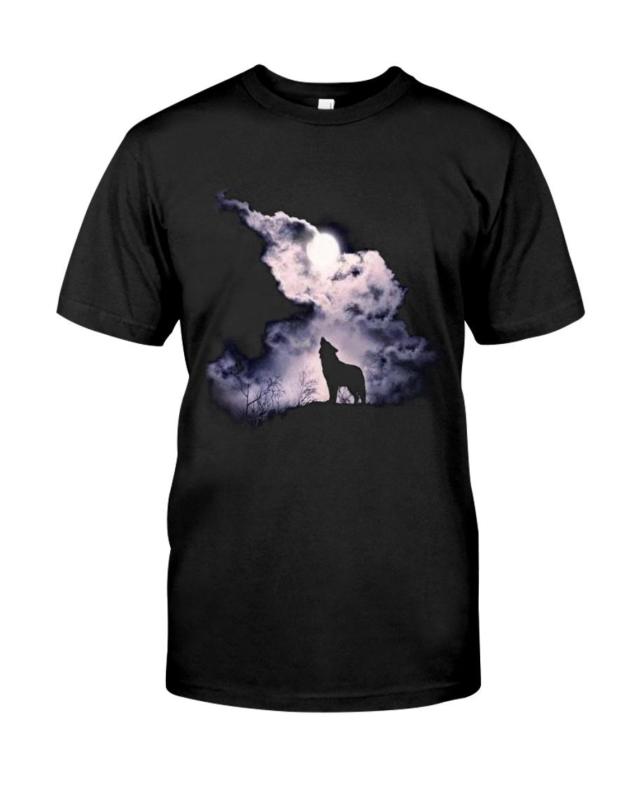 Wolf Sky Moon T shirt Classic T-Shirt