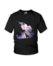 Wolf Sky Moon T shirt Youth T-Shirt thumbnail