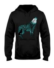 Ahoo Wolf Shirt Hooded Sweatshirt thumbnail