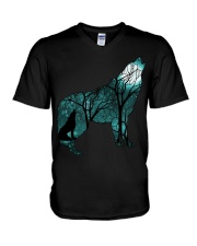 Ahoo Wolf Shirt V-Neck T-Shirt thumbnail