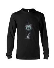 Wolf Face T-shirt Long Sleeve Tee thumbnail
