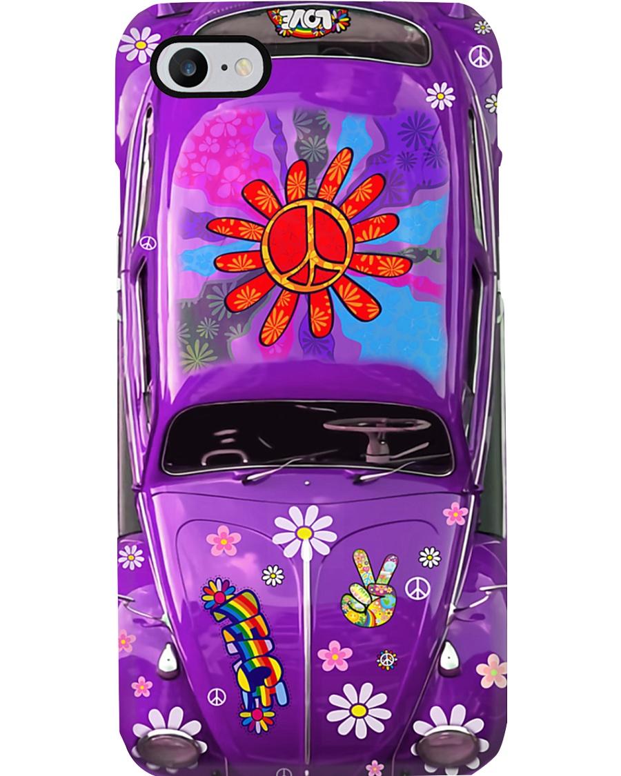 Hippie Vw Bug purple Phone Case