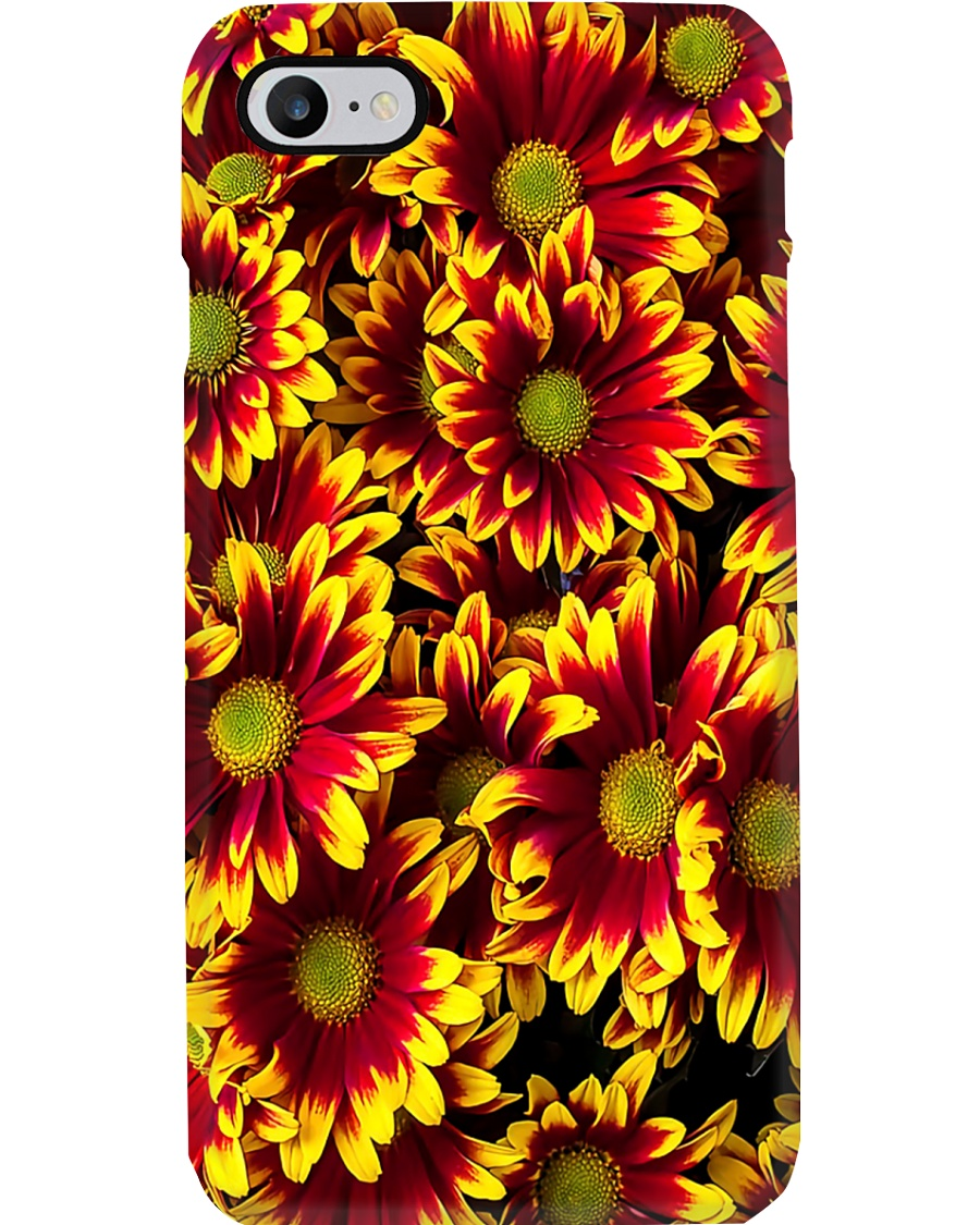 Red Yellow Daisies Phone Case