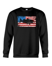 Patriotic Bass Fishing T-Shirt Crewneck Sweatshirt thumbnail