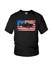Patriotic Bass Fishing T-Shirt Youth T-Shirt thumbnail