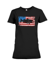 Patriotic Bass Fishing T-Shirt Premium Fit Ladies Tee tile