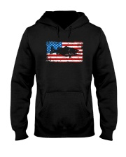 Patriotic Bass Fishing T-Shirt Hooded Sweatshirt thumbnail