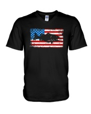 Patriotic Bass Fishing T-Shirt V-Neck T-Shirt thumbnail