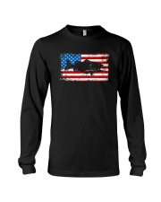 Patriotic Bass Fishing T-Shirt Long Sleeve Tee thumbnail