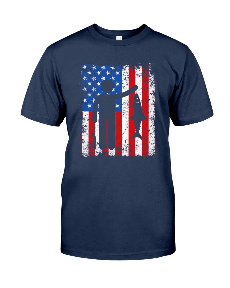 Patriotic Fishing T-shirt Unisex Tshirt