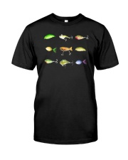 Just Wanna Be Fishin Lurws Classic T-Shirt front