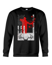 Deer Hunting Flag T-Shirts Crewneck Sweatshirt thumbnail