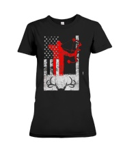 Deer Hunting Flag T-Shirts Premium Fit Ladies Tee thumbnail