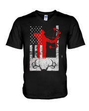 Deer Hunting Flag T-Shirts V-Neck T-Shirt thumbnail