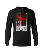 Deer Hunting Flag T-Shirts Long Sleeve Tee thumbnail