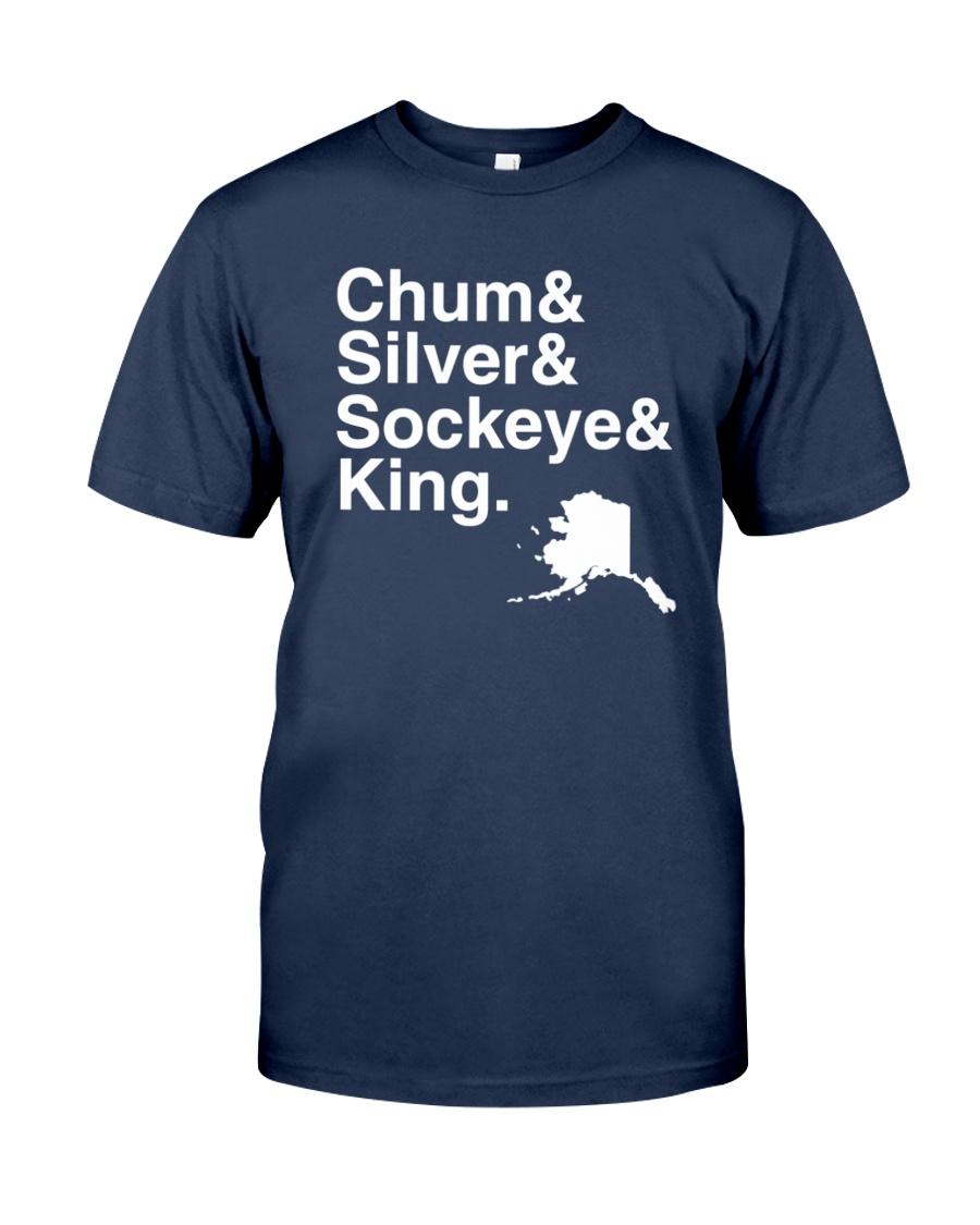 Salmon Shirt Four Species Helvetica Unisex Tshirt