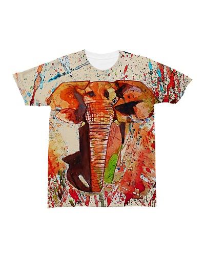 Elephant art all over print t shirt tee pillow