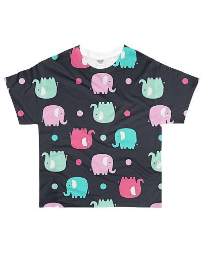 Elephant art all over print t shirt