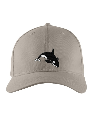 Embroidered Orcas killer whale hat