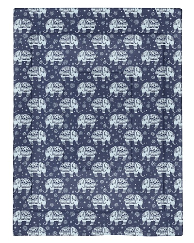 Tribal vector seamless pattern with elephant