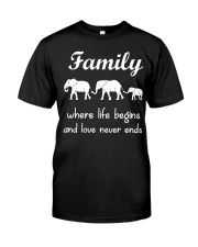 Elephant family t shirt phone case mug Classic T-Shirt thumbnail