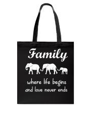Elephant family t shirt phone case mug Tote Bag thumbnail